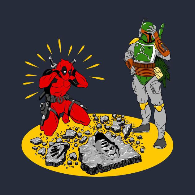 Deadpool Boba Fett Opps | Marvel Star Wars Mash up tee