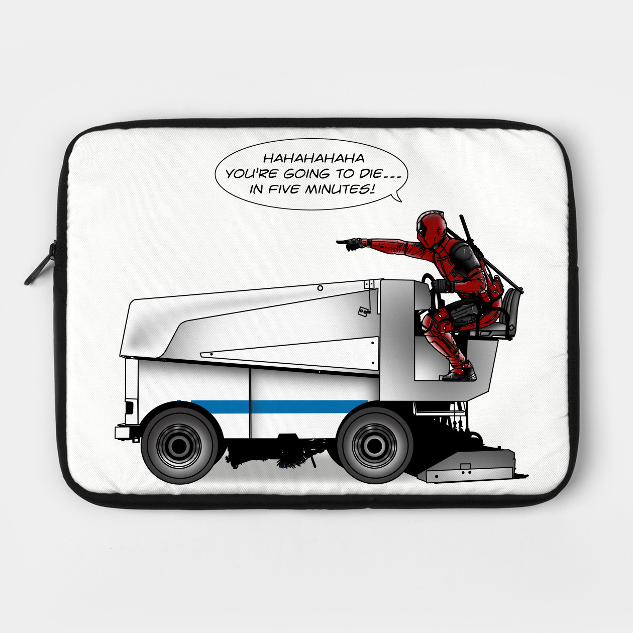 Deadpool Tee In  Five Minutes | Laptop Case