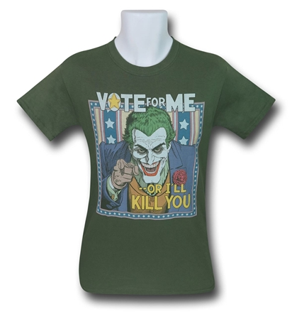 DC The Joker Vote for Me tee | DC vs Marvel the ultimate movie showdown