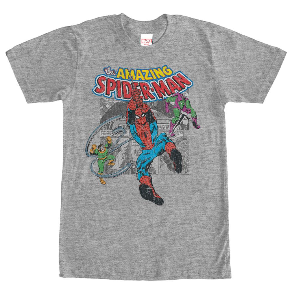 Marvel SpiderMan Collage Tee | DC vs Marvel the ultimate movie ranking